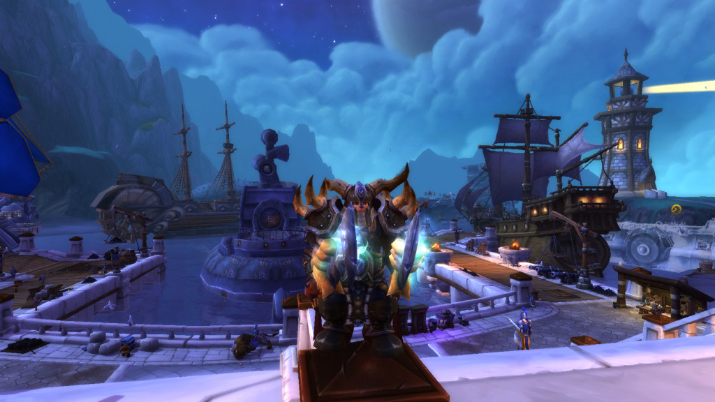 Fully upgraded harbor in WoW